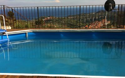 Zwembaduitzicht
